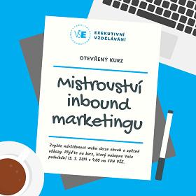 Přihlaste se do kurzu Mistrovství inbound marketingu 15. 5. 2019